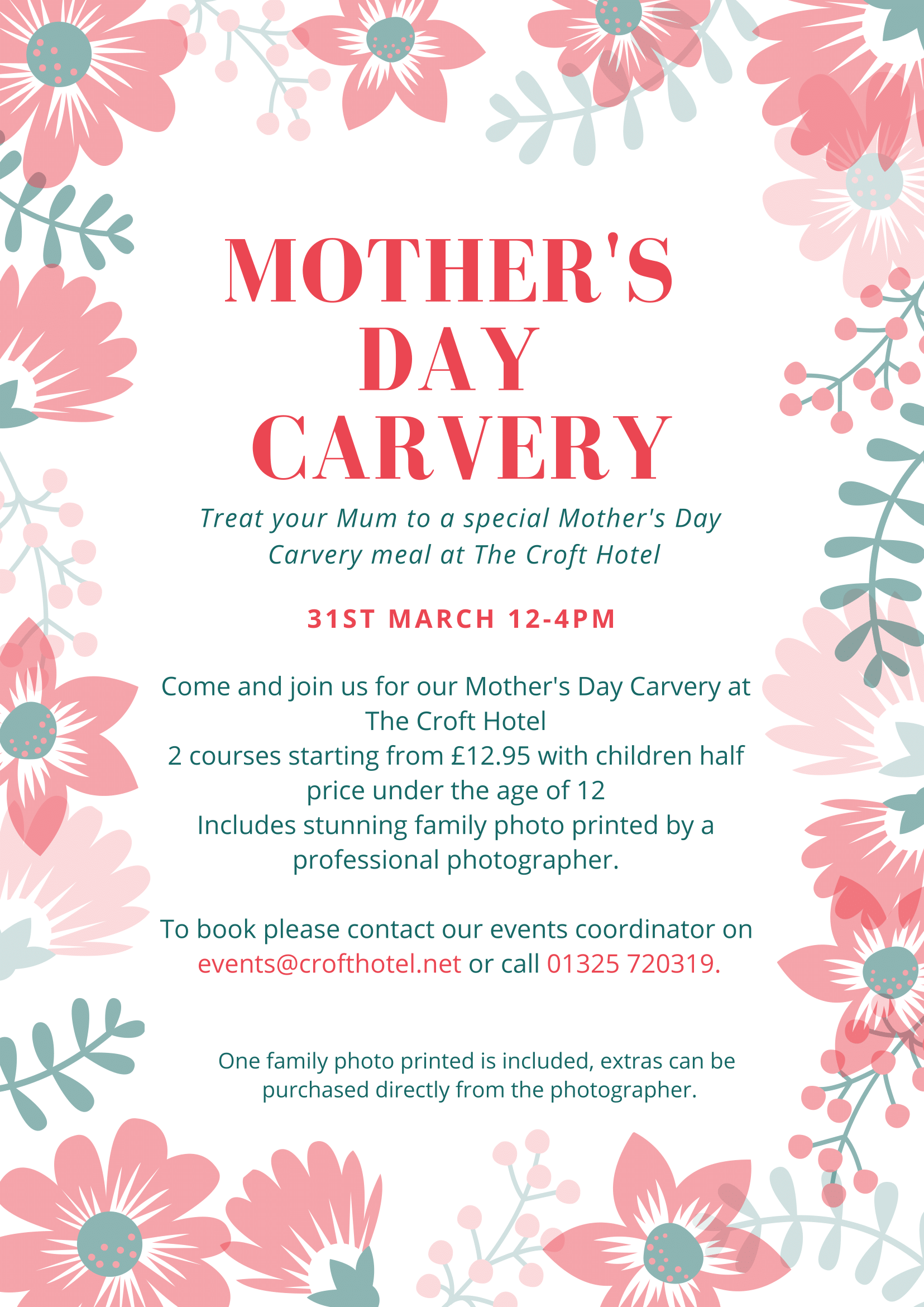 The Croft Hotel - Carvery for Mother's Day special offer