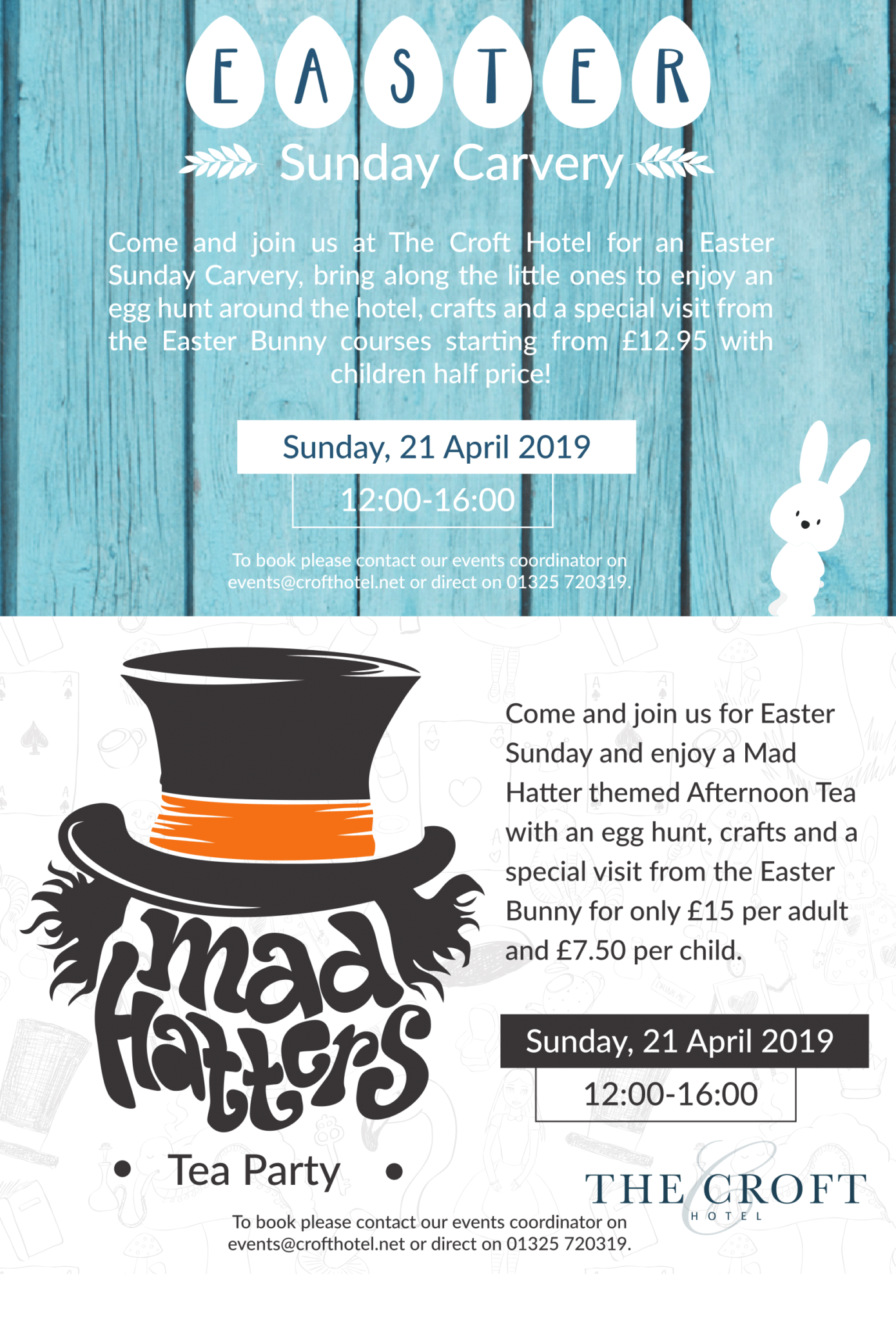 Afternoon tea for easter in Darlington - The Croft Hotel