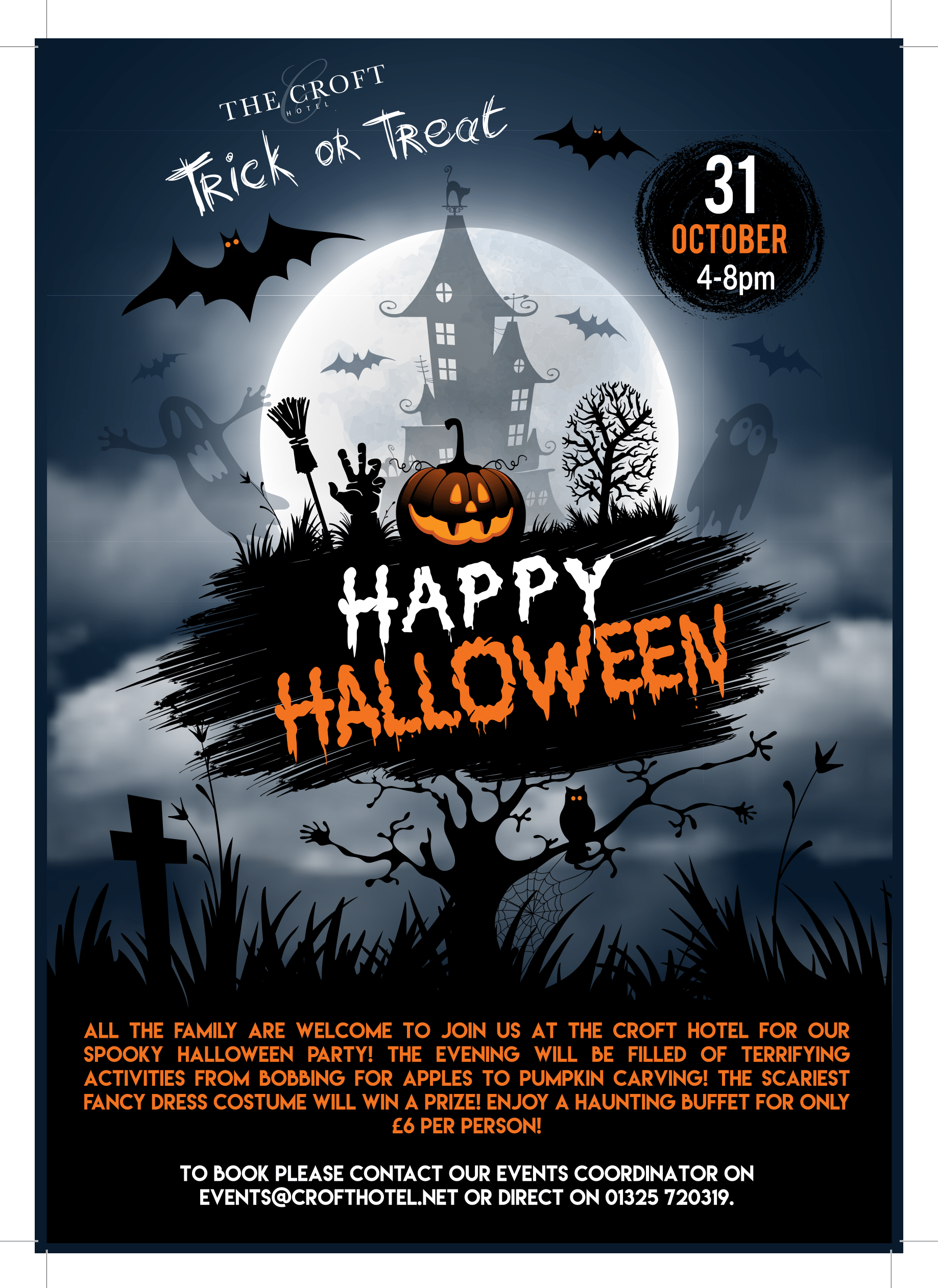 Halloween events at The Croft hotel